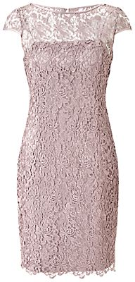 Adrianna Papell Lace Dress, Buff