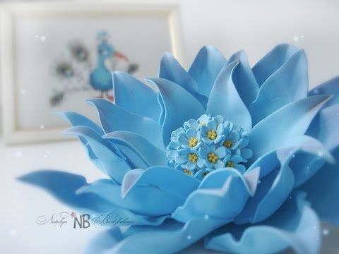 Фантазийный цветок из фоамирана | Мастер класс