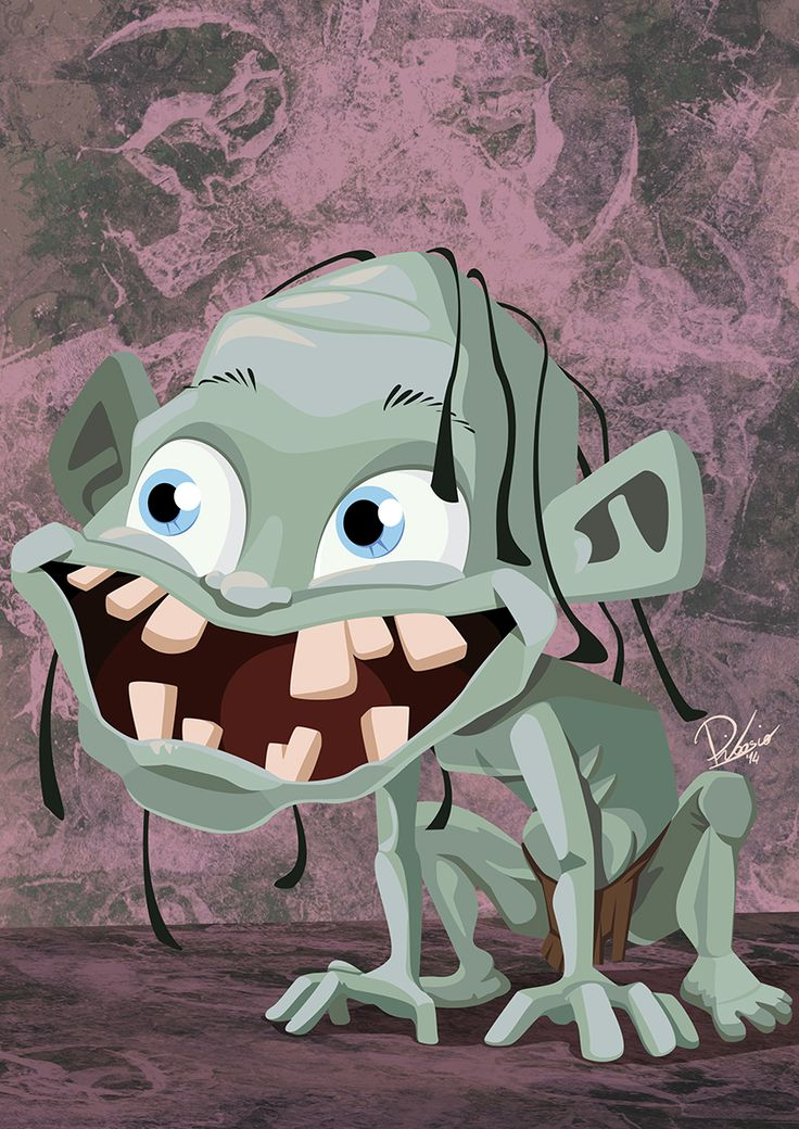 Gollum - caricature by Ribosio #thelordoftherings