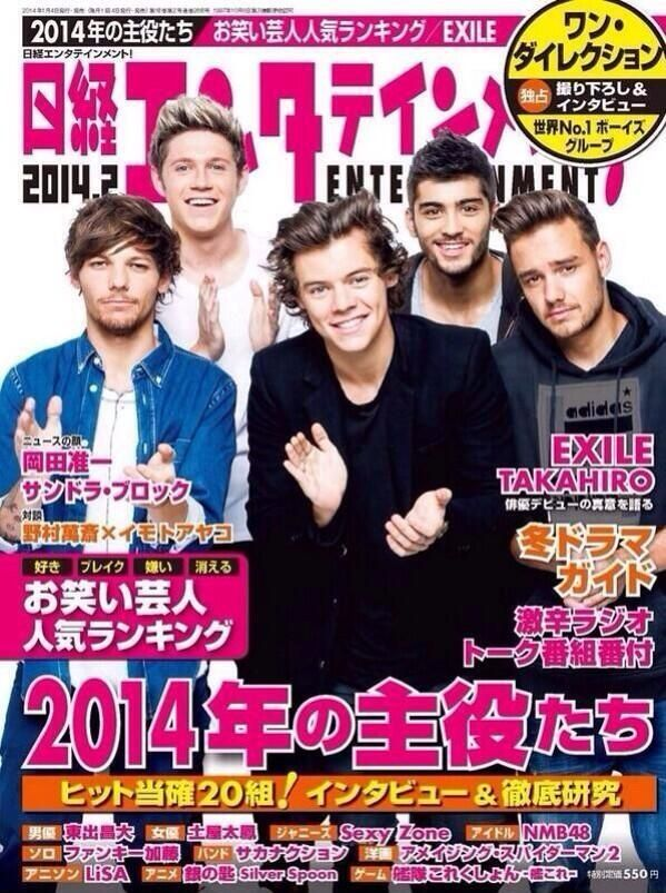One Direction in a magazine cover