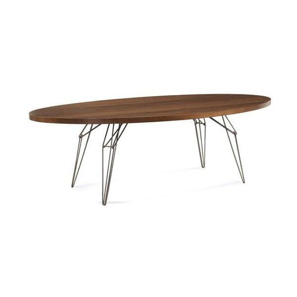 Saloom Furniture Lem 80 In. Ellipse Dining Table ($2,618) ❤ Liked On