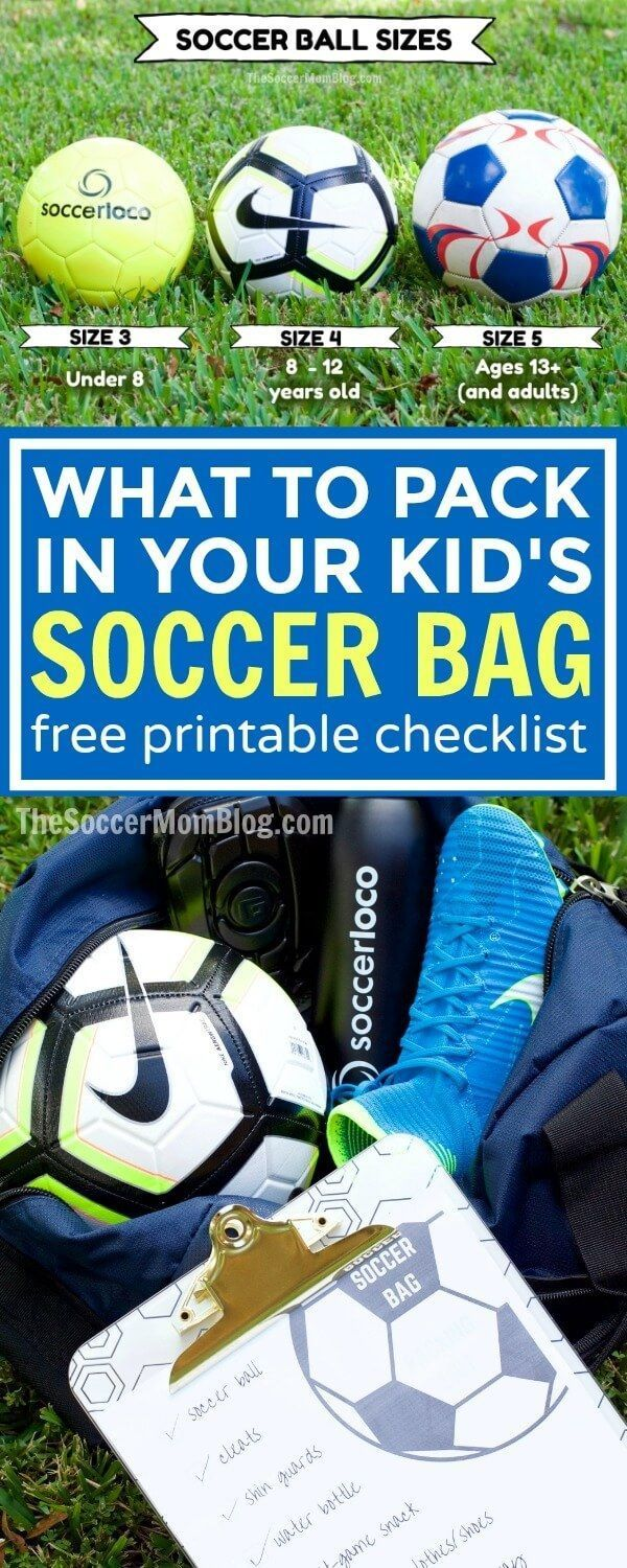 What To Pack In Your Kid S Soccer Bag For New Soccer Moms Dads Kids Soccer Soccer Soccer Workouts
