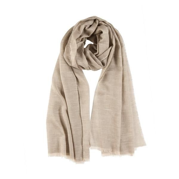 Light Semi Scarf in Beige Tones