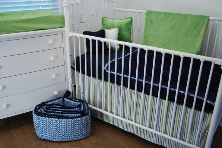 Navy blue and bright green toddler bedding baby asher - Navy blue and green bedding ...