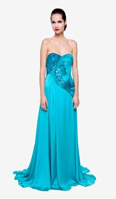 """Conception of designer Toth Bori: """"…my favorite fabric among many others is the silk crépe chiffon…she knows everything about female body…Soft and fluid like water…  Silk chiffon dress with richly embroidered corset part. Silk lining."""" No.: 0021/Hillanis"""