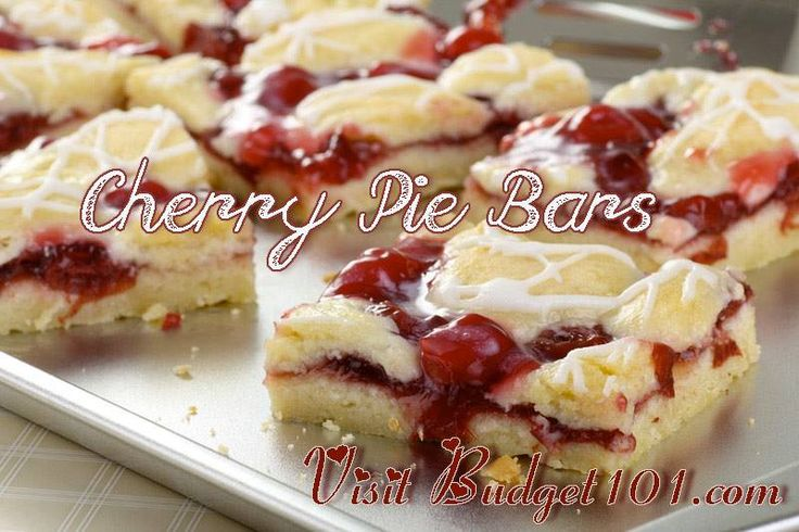 Cherry Pie Bars   Recipes   Pinterest