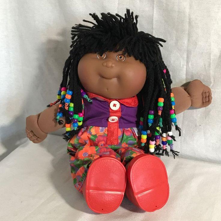 First Edition CPK Soft Sculpture Black Cabbage Patch Doll Braids Dreadlocks 1982 #CabbagePatchKids #Dolls