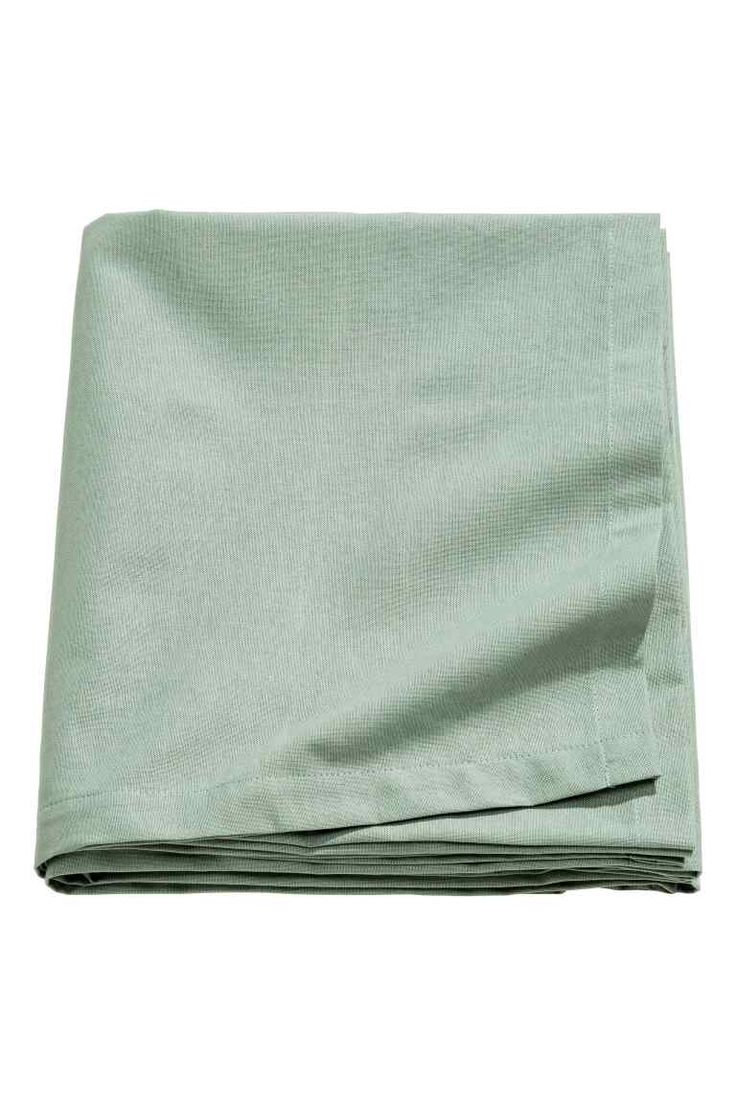 Cotton tablecloth - Dusky green - Home All | H&M GB 1
