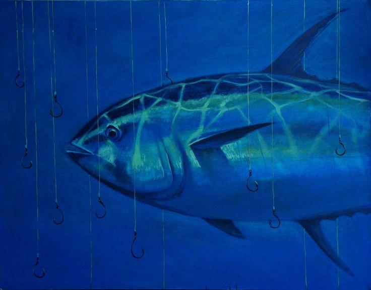 "Ivanov Gallery / Art for sale. ""Большая рыба.Тунец"", Федор Петрик, 2013. Холст, масло/90х70см.  «Big fish. Tuna», Fedor Petrik, 2013. Oil on canvas/90х70sm."