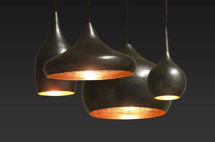 OCL lamps with a copper inner gives a warm feel to your diningtable.
