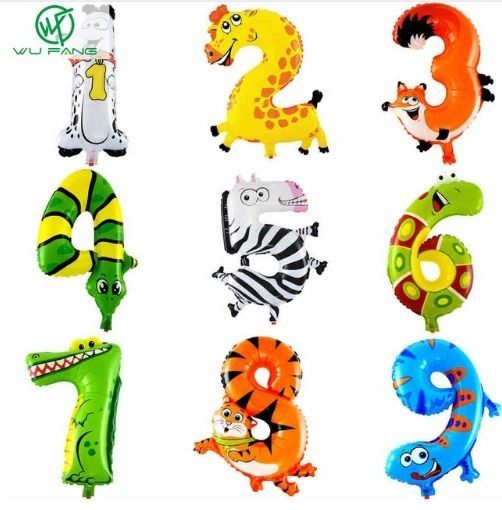 Foil Balloons Kids Party Decoration Animal Number Gift Balloon Decor HGFP015 #Unbranded #AllOccasions