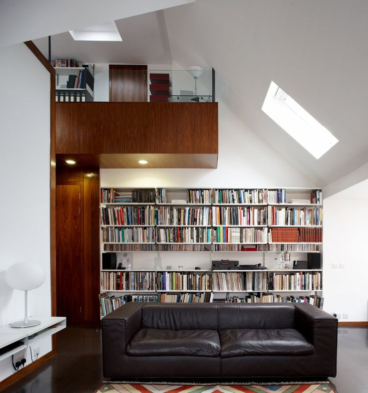 The Living Room Of An Enviable London Apartment Making Use Of Every Inch  For Bookcase Storage