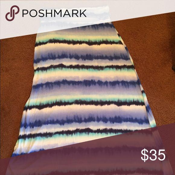 Green Envelope skirt Multi colored skirt Green Envelope Skirts Maxi