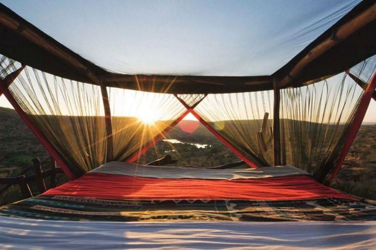 Sleep under the stars in a converted Land Rover at the Loisaba Wilderness Lodge, Nanyuki, Kenya. #travel #bucketlist #africa