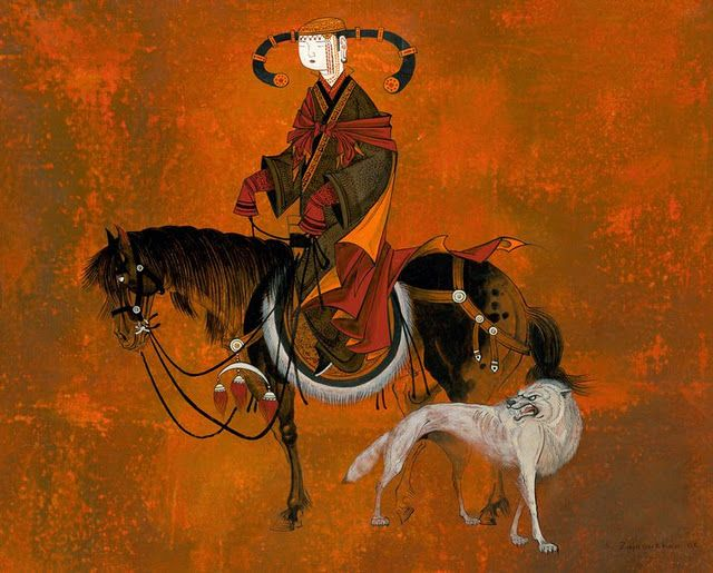 Il mondo di Mary Antony: I dipinti di Zayasaikhan Sambuu