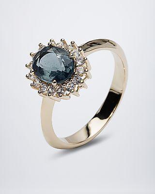 Zauberhafter Goldring mit Bahia Opal und Saphir #terra #opalis #terraopalis #opal #schmuck #ring