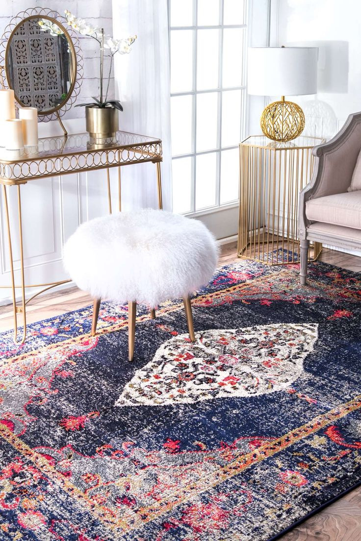 chromacb26 iris fading oriental medallion rug