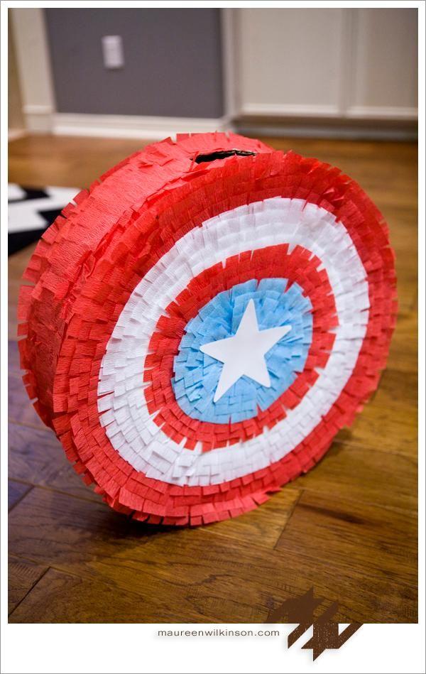 DIY Pinata: DIY Captain America Shield  Pinata: DIY Birthday Crafts