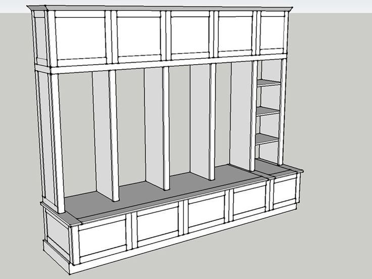 Plan For Custom Mudroom Built-In Cabinetry