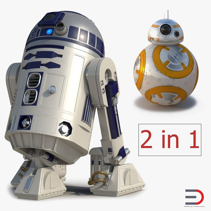 Star Wars Robost R2D2 and BB8 Collection 3D model