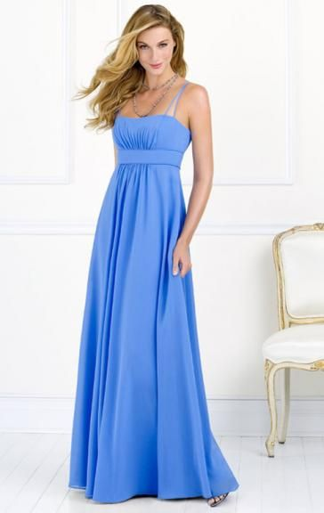 Colour: Blue  Fabric: Chiffon  Fully Lined: Yes  Built in Bra: Yes  Made-To-Order: Yes  http://www.queeniebridesmaid.co.uk/product/unique-blue-bridesmaid-dress-bnnad1121