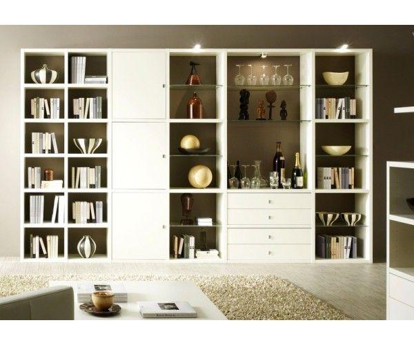 #bibliotheque blanche à prix discount chez Meuble-et-canape.com #meuble
