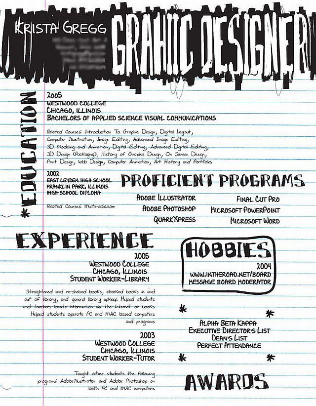 amazing artistic resumes 30 pics - Example Of Artist Resume