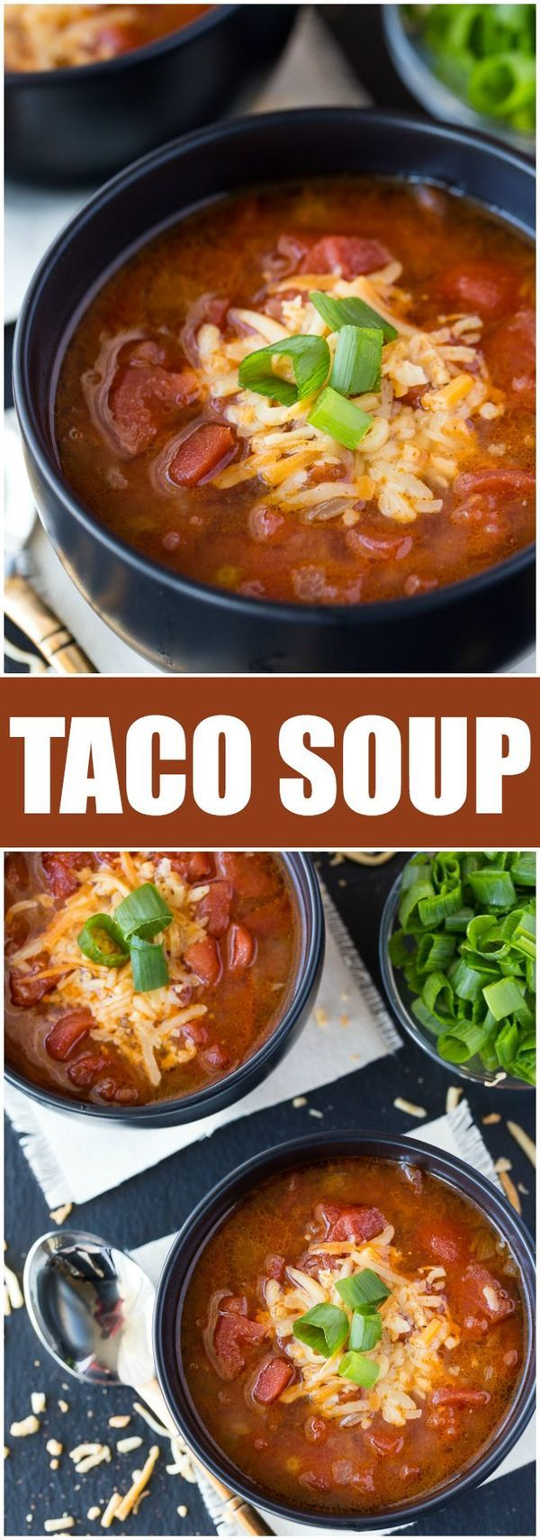 Taco Soup - A delicious, low carb meal with all the great flavors of tacos we love!