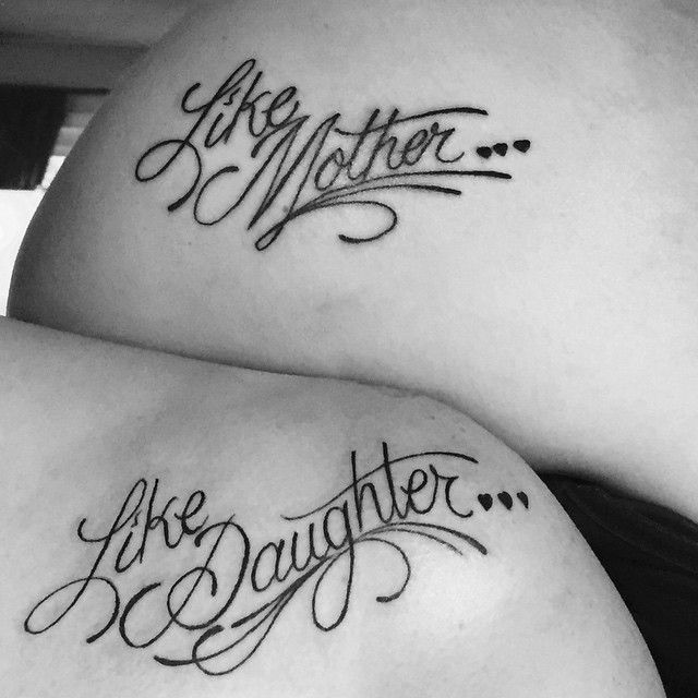 Like mother like daughter tattoos of Paige and her mom.