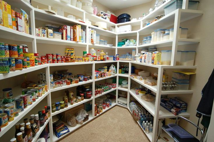 Great Use Of Awkward Shaped Room As Food Storage Pantry Emergency Preparedness Homesteading Pinterest And