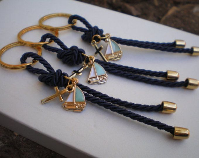 Luxury navy martyrika-Key chains Baptism Favors- Gold and blue martyrika-formal style martirika