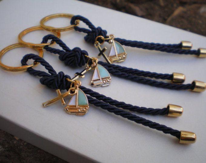 Luxury navy martyrika-Key chains Baptism Favors- Gold and blue martyrika-formal style martirika