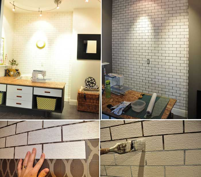 M s de 25 ideas incre bles sobre paredes de ladrillo de for Imitacion ladrillo interior