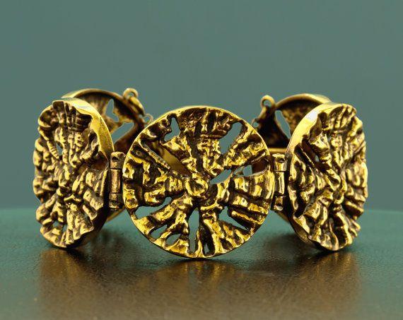 Pentti Sarpaneva for Turun Hopea ~Vintage modernist bronze bracelet, 1970's   Etsy.com