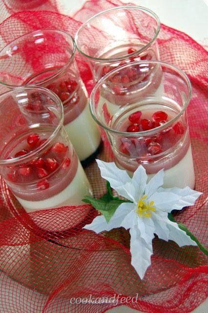 Πανακότα με ρόδι/Pomegranate Pannacotta