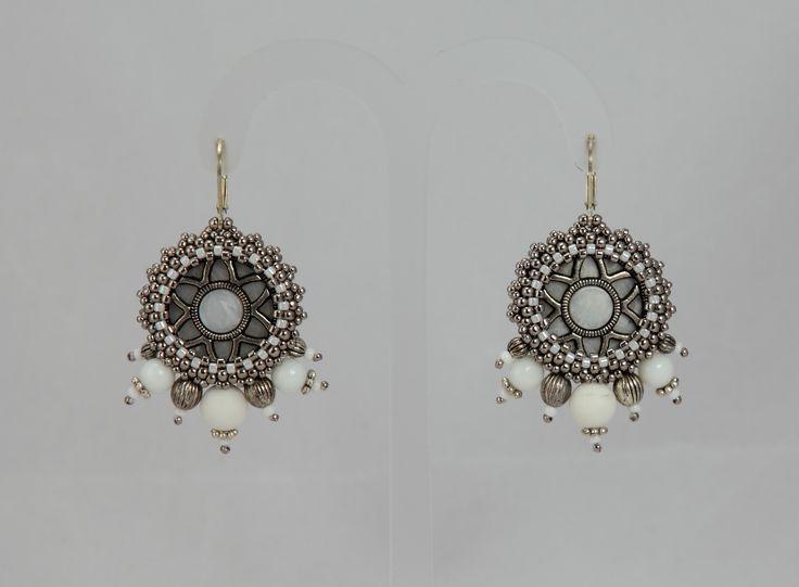 Nitecznik earrings beading  nitecznik.blogspot.com