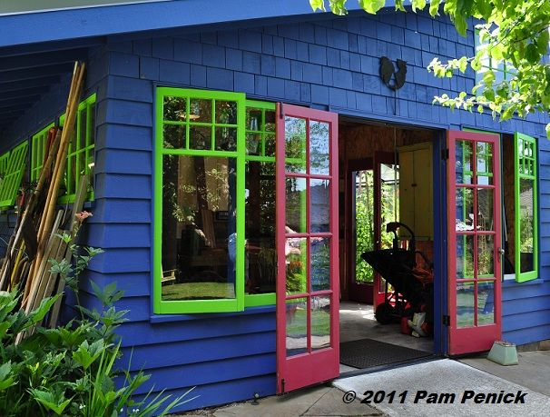 More than a large shed...a colorful retreat for an artist/craftsperson