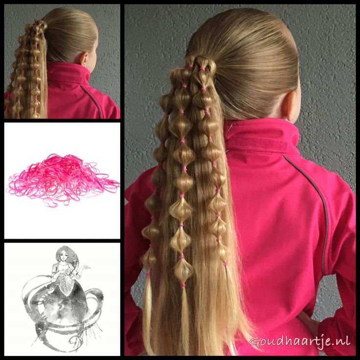 Take dome elastics,make hair bubbles and enjoy all the mermaid hairness