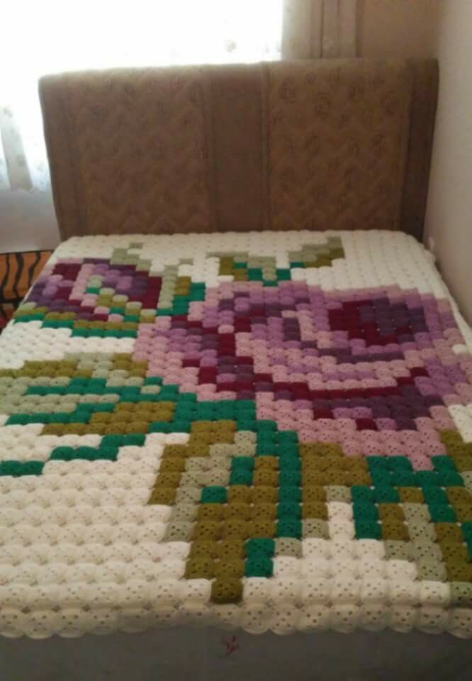 This would be so easy to do with a nice solid crochet square...or even a granny square!