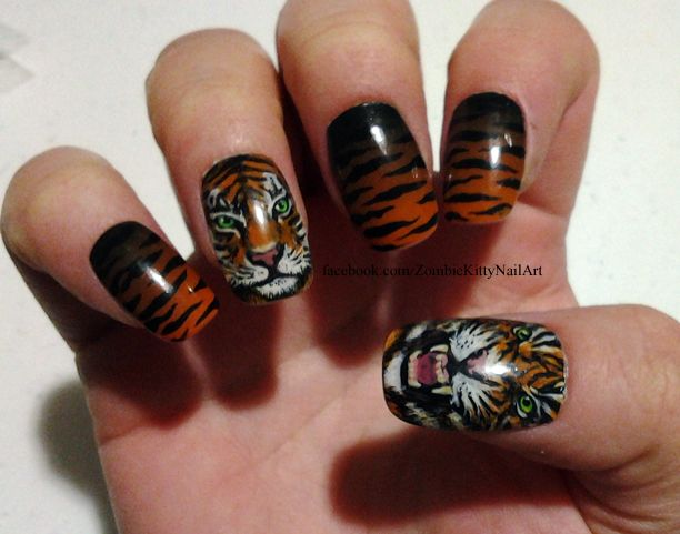 Tiger Nail Art by ZombieKittyNails on deviantART