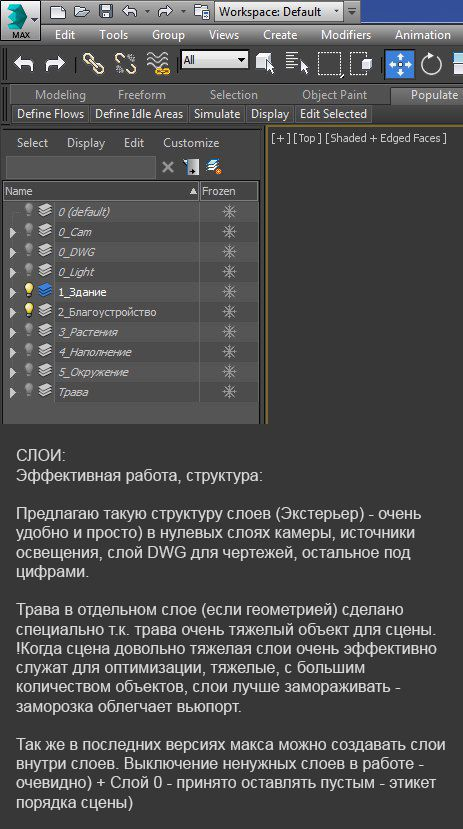 Слои в 3Ds Max