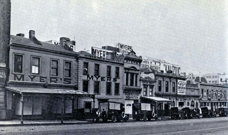 The first Myers Department Store was in Bendigo, Victoria (year unknown).
