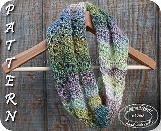 Need a quick and easy pattern for an infinity scarf that can easily be completed in one evening? The Sabrina scarf pattern may be the pattern for you! Using a lovely open chevron stitch, the finished scarf looks delicate yet exciting. Try this pattern in a variegated yarn for extra style with less work.