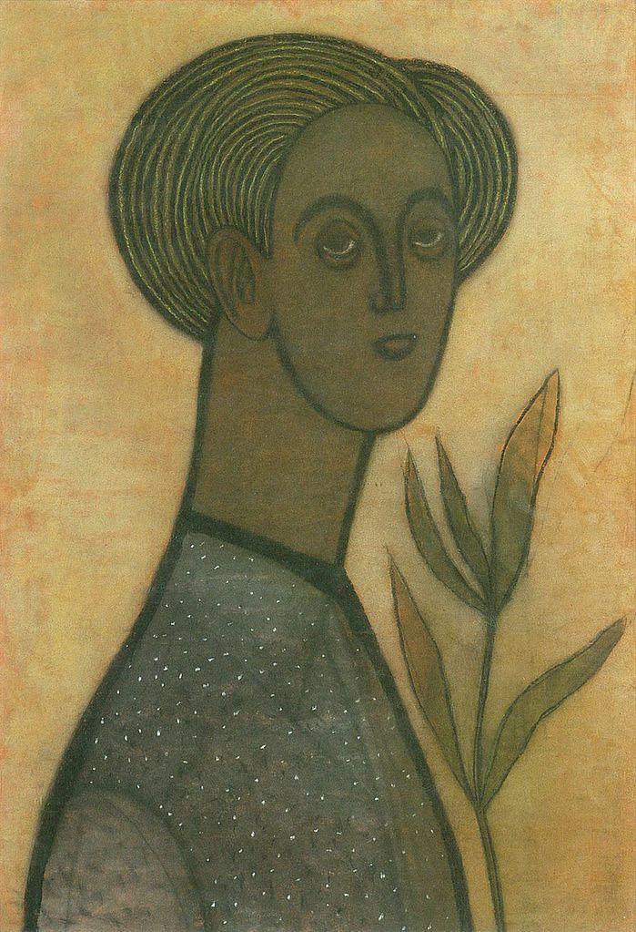 Vajda Lajos (1908–1941). Lily Self-Portrait, 1936
