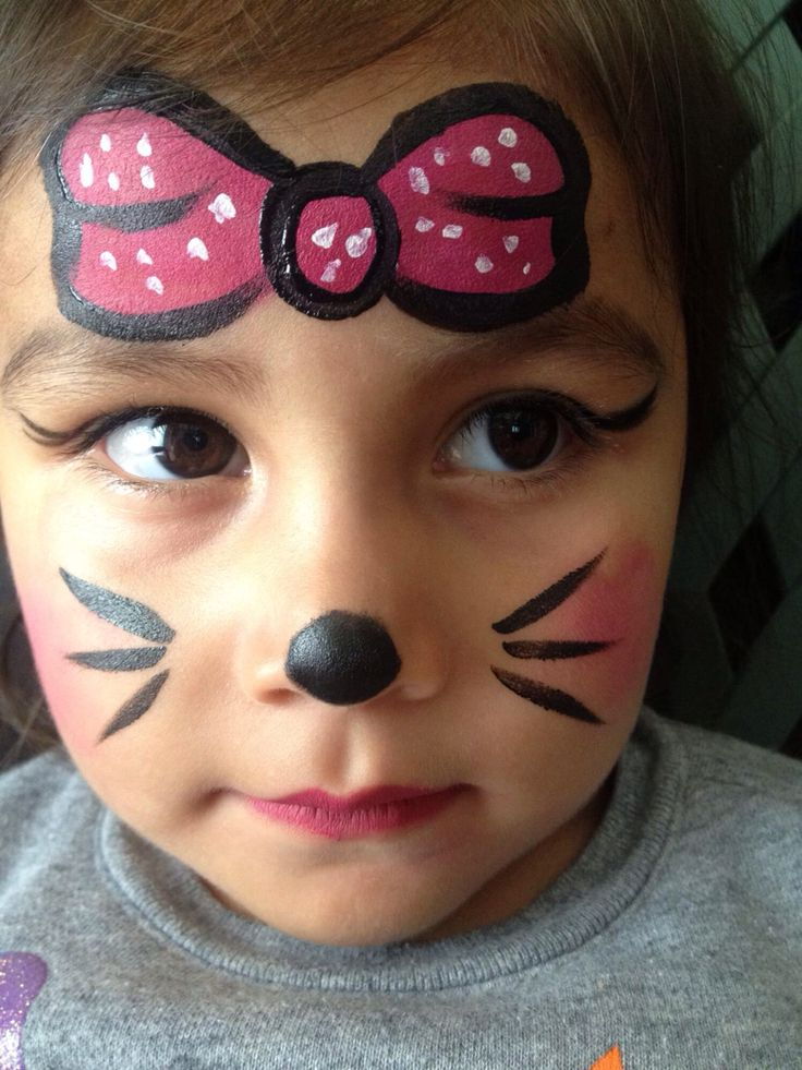 face painting ideas for kids minnie mouse more - Halloween Easy Face Painting