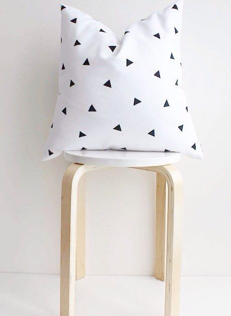 Minimal decor, triangle pillow,monochrome nursery,scandinavian decor,nordic…