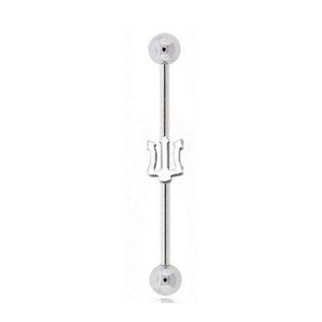 Piercing Industriel 35mm Acier Poséidon https://piercing-pure.fr/p/366-piercing-industriel-35mm-acier-poseidon.html #piercing #piercingoreille #piercingindustriel #piercingtrident #trident #poseidon