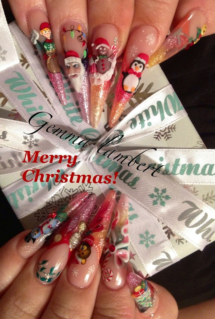 191 best my work x images on pinterest nail ideas nail designs christmas designs by me christmas designtrainingnails prinsesfo Image collections