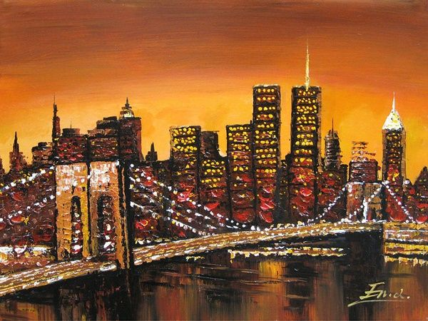 35 Ultimate Cityscape Painting On Canvas Skyline Painting Cityscape Painting New York Painting