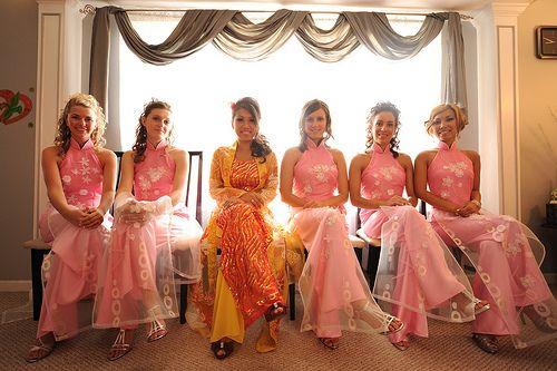 Final girls custom vietnamese ao dai bridesmaid dresses - adorkableduo.com